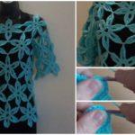 Crochet Flower Tunic Sweater