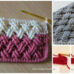 Double Treble Left Cross Crochet Cable