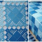 Blanket With Square Motifs