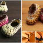 Simple Striped Baby Slippers