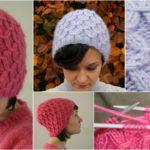 Knit Waffle hat | FREE Pattern