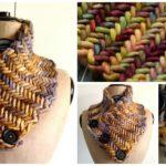 Knit Herringbone Neckwarmer
