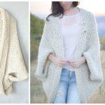 Easy Knit Blanket Sweater Pattern