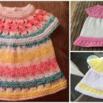 Knit Daisy Baby Dress