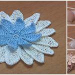 Crochet Long Petal Flower