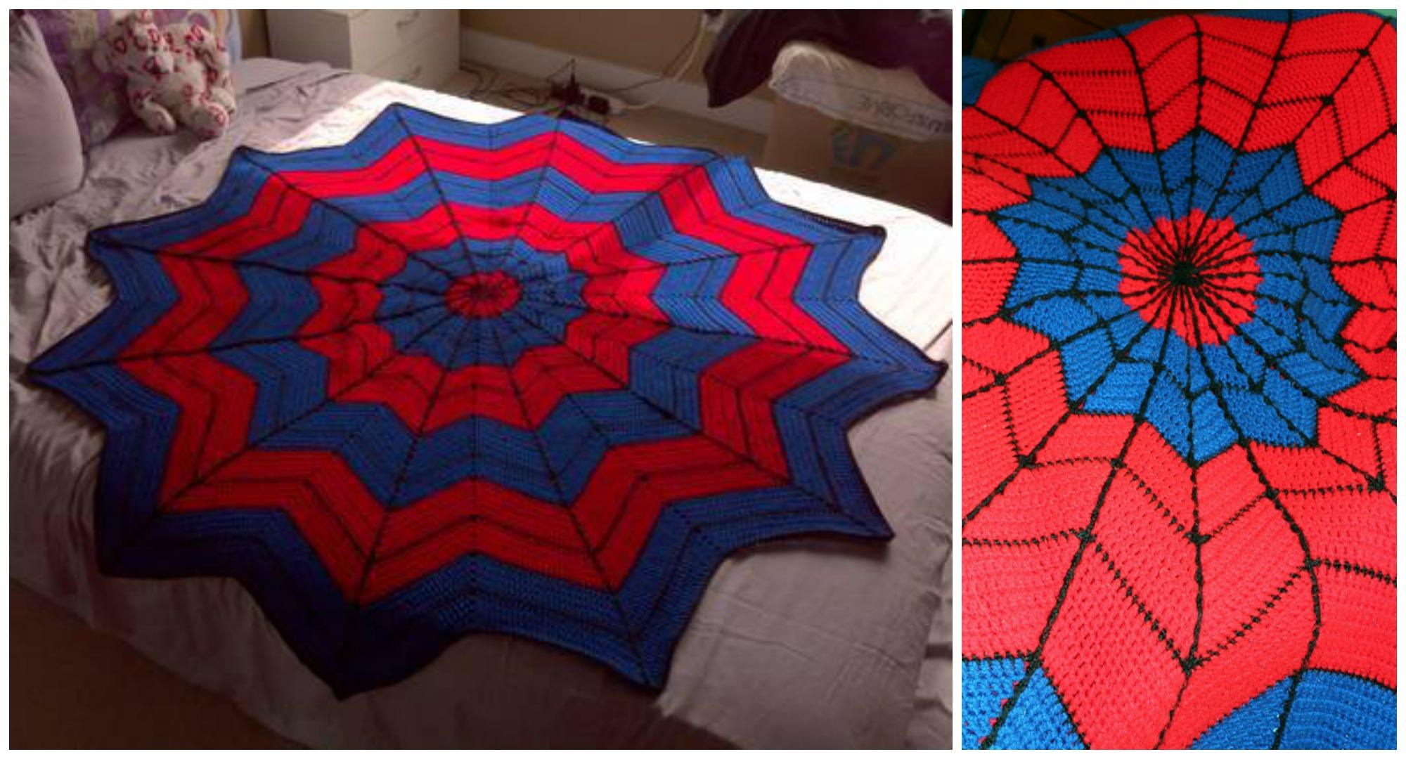 Crochet Spiderman Afghan Pretty Ideas