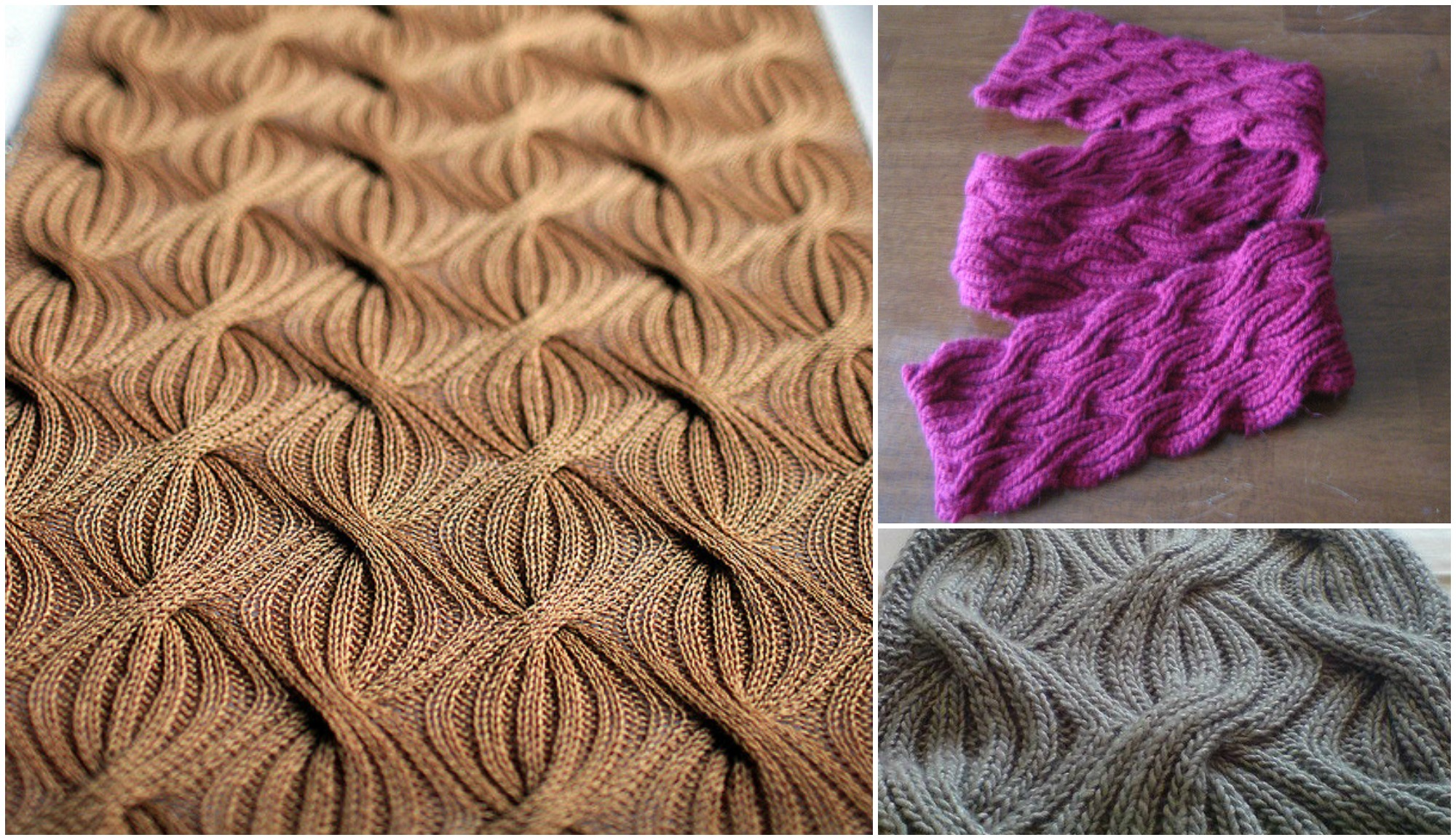 Reversible Cabled Brioche Stitch Scarf Pretty Ideas