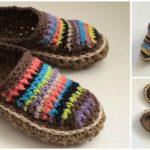 Crocheted Pretty Moccasins