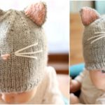 Pretty Kitty Hat Knitting Pattern FREE