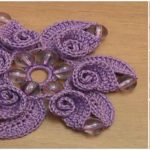 Beaded Flower With Spiral Petals