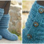 Knit Slippers In Garter Stitch