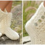 """Knit Slippers """"walk in the clouds"""""""