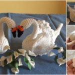 Crochet Beautiful Swans' Couple