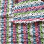 Crochet Ripple Puff Stitch Baby Blanket