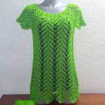 Crochet Leaf Blouse