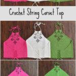 Crochet String Corset Top