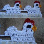 Crochet Hen Border