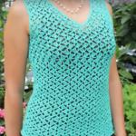 Crochet V-Neck Blouse