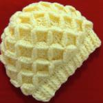 Crochet Hat With 3D Diamonds