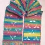 Crochet Dragonfly Scarf