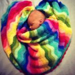 Crochet Rainbow Ripple Stitch Blanket
