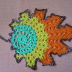 Crochet Colorful Leaves