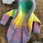 Crochet Hooded Cardigan