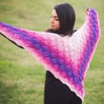 Crochet Leaves Reversible Shawl