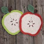 Crochet Apple Dishcloth