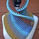 Crochet Autumn Ribbed Cowl
