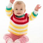 Crochet Striped Cute Pullover