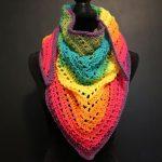 Crochet Rainbow Triangle Scarf