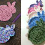 Crochet Easter Bunny Coasters