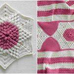 Crochet Puff Stitch Hexagon