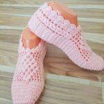 Crochet Puff Diamond Slippers