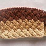 Crochet Celtic Weave Zipper Purse