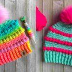Crochet Bubblegum Pop Beanie