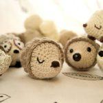 Crochet Bobble Hedgehog