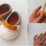 Crochet Simple Baby Booties