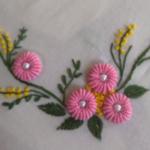 Ring Bullion Stitch Flower