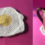 Crochet Egg Breakfast Coasters