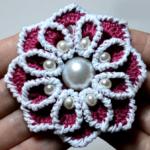 Crochet Beaded Flower