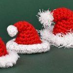 Crochet Tiny Santa Hat