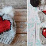 Crochet Heart Slouchy Hat
