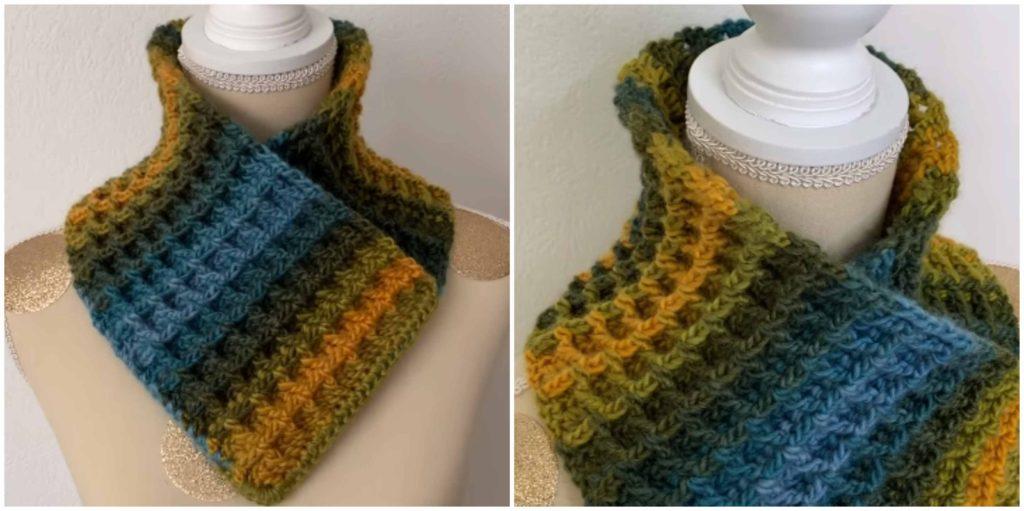 Crochet Waffle Stitch Cowl Pretty Ideas