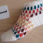 Crochet Honeycomb Patterned Slippers