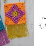 Crochet Square Saddle Bag