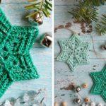 Crochet Flower Star Snowflake by Renata Saj