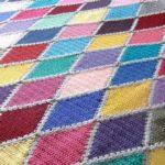 Crochet Harlequin blanket