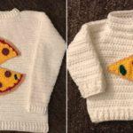 Crochet Pizza Sweaters